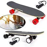 HaroldDol Elektrisch Skateboard Longboard Skateboard Roller Fernbedienung 4-Räder Ahorn Deck Scooter Einmotorig Höchstgeschwindigkeit 20km/h