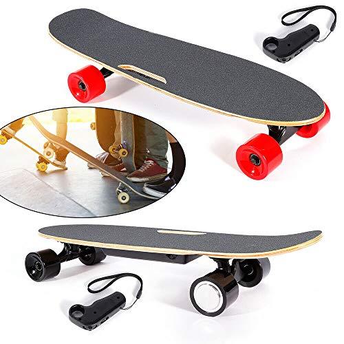 HaroldDol Elektrisch Skateboard Longboard Skateboard Roller Fernbedienung 4-Räder Ahorn Deck Scooter Einmotorig Höchstgeschwindigkeit 20km/h*