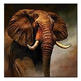 ZXYFBH Cuadros Decoracion Salon Elefante clásico Carteles e Impresiones Elefante Pared Arte Pintura Animal Lienzo Pintura hogar Pared decoración 50x50cmnoframe 1