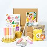Shea Butter Lip Balm DIY Kit (63-pieces), Makes 10 Luxurious Lip Balms with EVERYTHING You Need