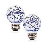 SleekLighting 0.5 watt LED Light Bulb - Fairy light G16 – General Purpose Blue LED Light Bulb – UL Approved – Uses half a Watt of Energy, 110 Volts, Instant On, Average Life 10,000 Hours