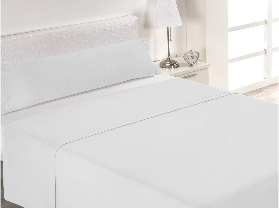 SABANALIA Juego de sábanas Blancas de Hostelería (Disponible en Varias Medidas), Cama 105