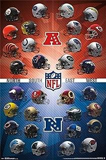 NFL HELMET LOGOS POSTER Amazing Collage RARE HOT NEW 22x34