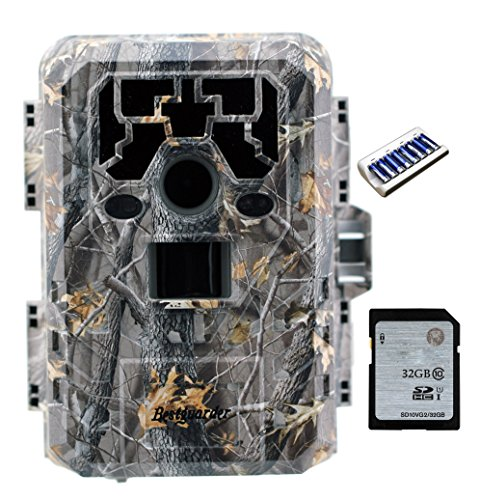 Bestguarder HD Waterproof IP66 Infrared Night Vision Game & Trail Hunting Scouting Ghost Camera Take...
