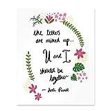 Jodi Picoult Quote Salem Falls U And I Should Be Together Poster Print