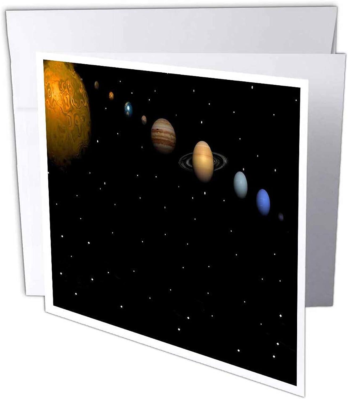 3dRosa gc_40282_2 Grußkarte Alignment of Our Solar System , 15 x 15 cm, 12 Stück B07BJD5W3S | Schnelle Lieferung
