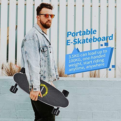 Elektro Skateboard Spadger D5X mit LED-Licht Bild 6*