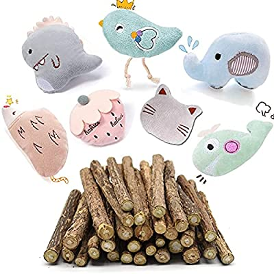 SeaMorn Cat Catnip Toys Plush Interactive Cat Toys - Cat Chew Toy Bite Resistant Catnip Filled Kitten Toy for Cat Kitten Teeth Cleaning Playing Chewing
