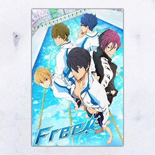 UpdateClassic Free! Iwatobi Swim Club Anime Poster Wall Decor 11x17