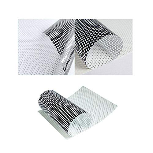 folimac 8,50€/m² One Way Vision Folie Lochfolie für Digitaldruck/Sichtschutzfolie (100cm x 152cm)
