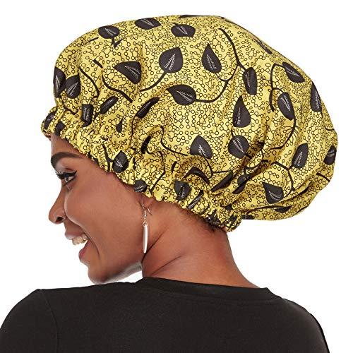 VVolf Satin Bonnet for Women, Silk Bonnet for Curly Hair Bonnet for Black Women Silk Hair Cap for Sleeping