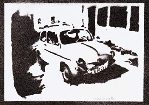 Klassischen Auto Poster SEAT 600 Plakat Handmade Graffiti Street Art - Artwork