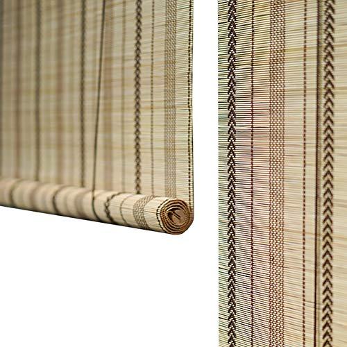 Seitenzug Springrollos Naturbambus Roller Fenster Jalousien, Sonnenschirm Roll Up Rolläden für Terrasse, Rasen und Garten, 60% Shading Rate (Farbe : Hook up, größe : 50X180cm)
