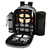 Picnic at Ascot - Deluxe Equipped 2 Person Picnic Backpack with Cooler, Insulated