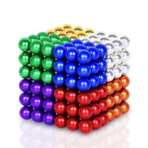 DYRDM Magnetic Building 216PCS 5mm Colorful Magnets Fidget Gadget Toys Rare Earth Magnet Office Desk Toy Games Magnet Toys Stress Relief Toys