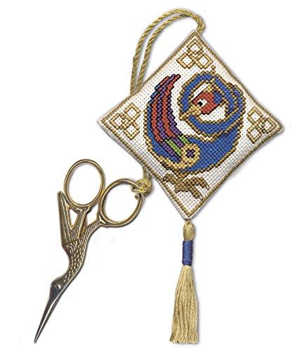 Textiel erfgoed schaar houden geteld kruis steek kit - Keltische vogel