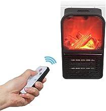Calentador Flame Heater mini práctico portátil compacto de 500 W con temporizador 3D para chimenea con mando a distancia