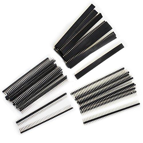 Aussel 60 Stück Weg PCB Board 40Pin männlich weiblich und rechtwinklig Header Connector (PIN-3 60PCS)