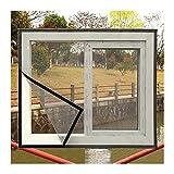 GGYMEI Kit De Aislamiento De Ventana,Película De Aislamiento No Perforada De 0,2 Mm Parabrisas De Invierno Sellado para Varias Puertas Y Ventanas (Color : Black, Size : 1.4x1.8m)