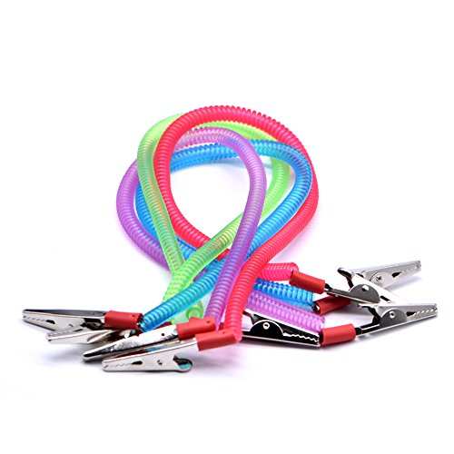 RZJZGZ Dental Napkin Clip Flexible Elastic Dental Plastic Bib Clips Napkin Holder (4Count)