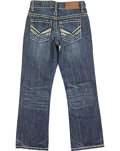 Cody James Boys' Dark Regular Bootcut Jeans Dark Blue 8