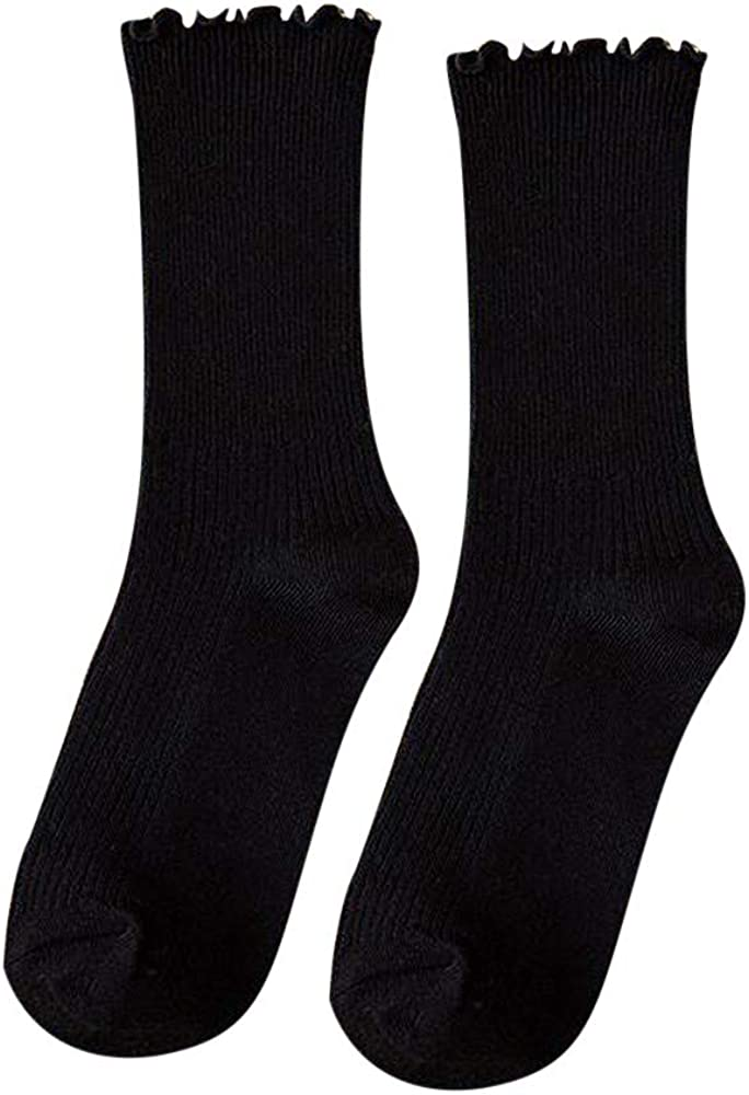 Max 84% OFF Female Girl Candy Color Black C In a popularity Cotton Socks Womens Fungus