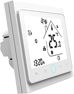 Qiumi Termostato Wifi, controlador de temperatura, aire acondicionado inteligente, controlador de temperatura programable,...