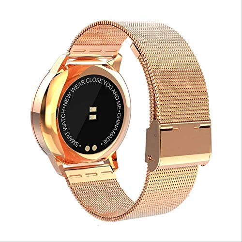 YUJY Smartwatch Q8 Wasserdichter Farb-Touchscreen Smartwatch Smart Fashion Electronics Männer Frauen Herzfrequenz Fitness Armband Smartwatch Steel Gold