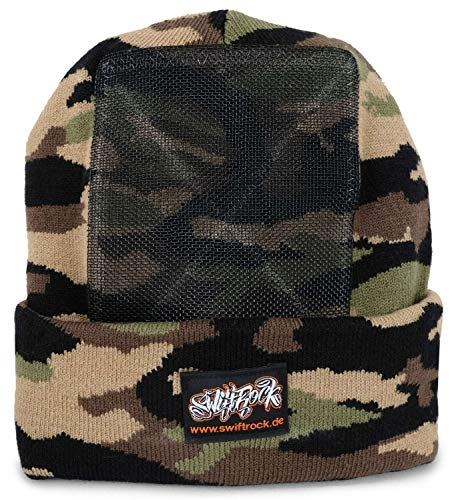 SR Rocking Gear - Swift Rock Camouflage Headspin Beanie Gorro - Pista Tamaño One Size, Color asignado Grün