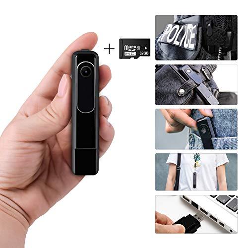 Cheapest Prices! Body Camera HD 1080P, Ehomful Wearable Mini Spy Camera Wireless,Portable Pen Cop Po...