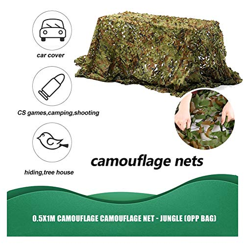 Woodlands Camo Netting Hunting Camouflage Net Camping Gazebo Garden Net Shade Hide Car Cover Fence Pergola,for Tree House Bar Decoration(green) (Color : Green, Size : 9 * 9M(29.5 * 29.5ft))
