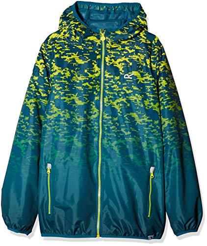 Regatta Kinder Jacke mit bedrucktem Hebel, wasserdicht und atmungsaktiv, leicht, mit Kapuze XXL ozeanblau