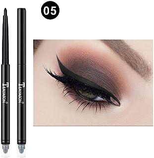 99AMZ 12 Colores Doble cabeza Brillo Cosmético Sombra de Ojos Perfilador Labios Maquillaje Delineador Lápiz Delineadores l...