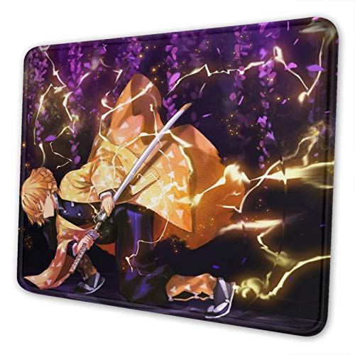 Demon-Slayer-Poster Art-Japanese-Anime Gaming Mouse Pad Square Waterproof Mouse Mat with Non-Slip Rubber Base for Office Home Laptop Travel 10 X 12 Inch ( 25 X 30 cm )