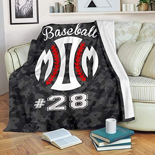 STJZXHN Mantas,Manta única de impresión de béisbol,Manta Sherpa de Doble Grosor,Manta de Cama Suave y Suave,sofá cálido,Manta de Almuerzo de Oficina para Adultos,Regalos para niños,150×200cm/60×80 PU