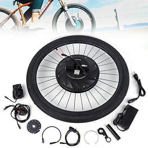 Kit de conversión para bicicleta eléctrica de 26 pulgadas, 36 V, 240 W, rueda delantera de aleación ligera, kit de conversión para bicicleta eléctrica de 26 pulgadas