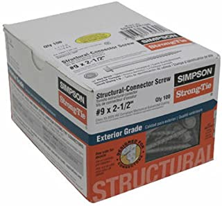 Simpson Strong-Tie SD9212R100# #9x2.5 Conn Screw