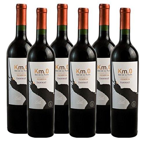 Atlantik Weine, Weinpaket Km.0 Reserva Tannat 2017, Rotwein aus Uruguay, Südamerika (6 x 0,75l)