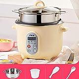 Hervidor de arroz multifunción Hervidor de arroz para el hogar, electrodomésticos pequeños para dormitorio pequeño, cocción rápida, gachas de avena/sopa, vaporera con función de mantener e