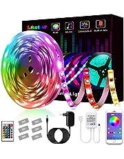 Tiras LED, L8star Tiras de Luces LED Smart 5050 Control APP,Luces Led Habitacion con Controlador Bluetooth Sincronizar, con Música Solicitar TV Dormitorio, fiestas y Decoración del Hogar (5M)