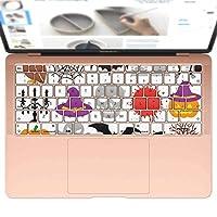 igsticker MacBook Air 13inch 2018 専用 キーボード用スキンシール キートップ ステッカー A1932 Apple マックブック エア ノートパソコン アクセサリー 保護 014101 ハロウィン かぼちゃ おばけ