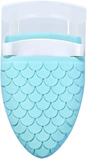 Eyelash Curler for Women, Mini Creative Mermaid Compact Eyelashes Curler Clip for Travel Vanity Makeup (Light Blue)