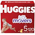 Baby Diapers Size 5, 120 Ct, Huggies Little Movers from Kimberly-Clark Corp.
