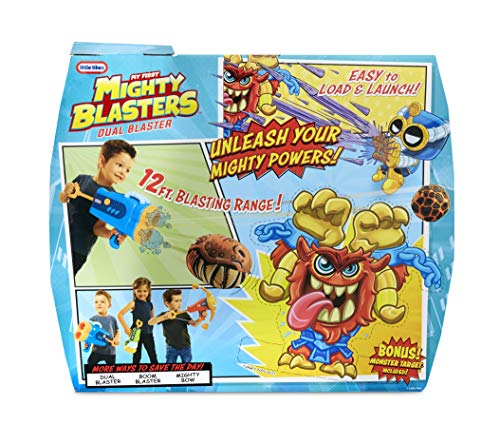 Little Tikes 651267 Mighty Blasters Dual Blaster Toy Blaster with 6 Soft Power Pods by