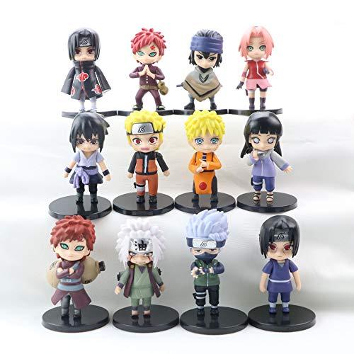 N/W 12 PCS/Set Naruto Sasuke Q Version Modèle de Poupée Figurine Pop Figurine Pop Set de Petites Figurines D'anime À Collectionner