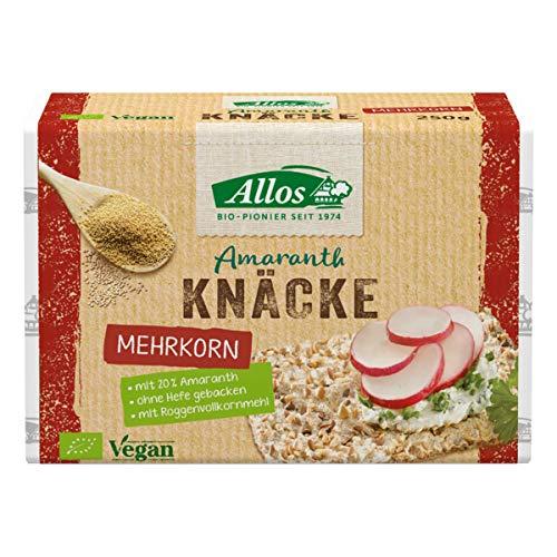 Allos - Amaranth Mehrkorn Knäcke - 250 g - 12er Pack