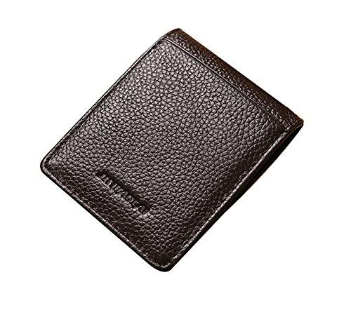 Genda 2Archer Fantástico Hombre Billetera Pplegable Delgada con Pantalla de Papel Magnético Clip del Dinero