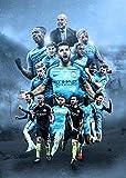 Manchester City Football Club Sportbild, Poster,
