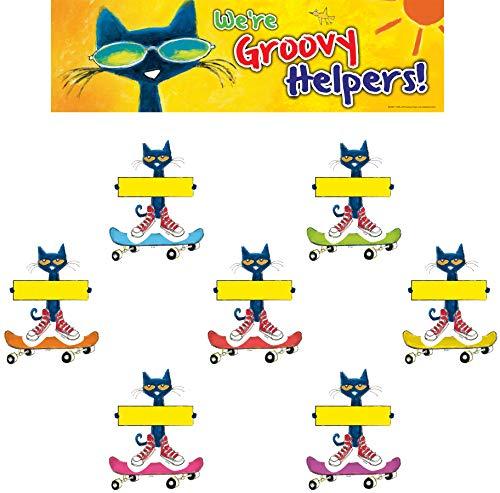 Edupress Pete The Cat Groovy Classroom Jobs Mini Bulletin Board (EP60348)