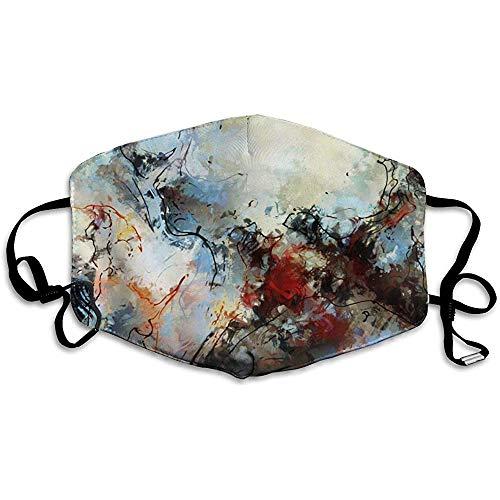 Moderne kleurrijke hedendaagse kunstwerken drieste schilderij comfortabel ademend masker, universeel ademend masker